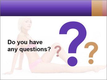 Sitting Woman in Pink Bikini PowerPoint Templates - Slide 96