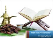 Quran Book Dates and Coffe PowerPoint Templates