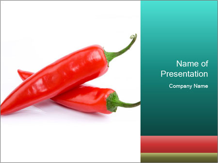 Two Hot Chili Peppers PowerPoint Template