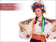 Ukrainian Folk Woman PowerPoint Templates
