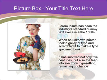 Housewife Baking Cookies PowerPoint Templates - Slide 13
