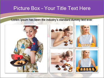 Housewife Baking Cookies PowerPoint Templates - Slide 19