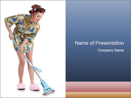 Young Wife Housekeeping PowerPoint Templates