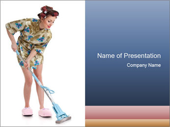 Young Wife Housekeeping PowerPoint Templates - Slide 1