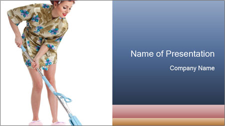 Young Wife Housekeeping PowerPoint Template