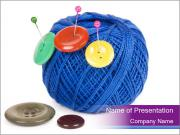 Ball of Blue Threads PowerPoint Templates
