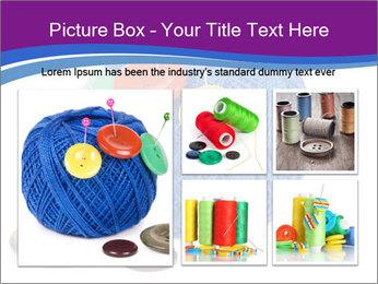Ball of Blue Threads PowerPoint Templates - Slide 19
