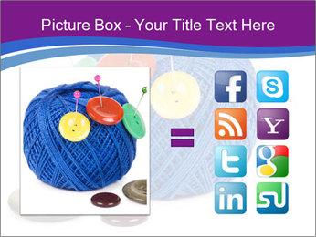 Ball of Blue Threads PowerPoint Templates - Slide 21