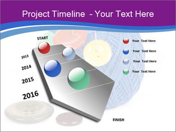 Ball of Blue Threads PowerPoint Templates - Slide 26