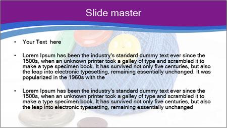 Ball of Blue Threads PowerPoint Template - Slide 2