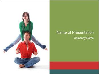 Yoga Family PowerPoint Templates - Slide 1