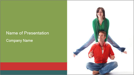 Yoga Family PowerPoint Template