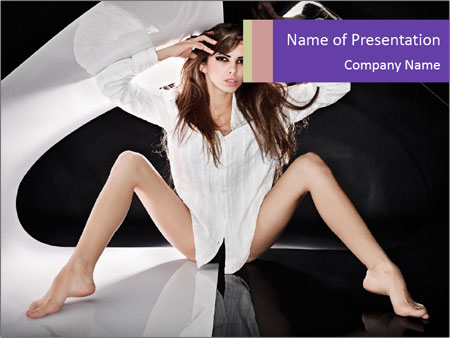 Black and White Concept in Fashion PowerPoint Template