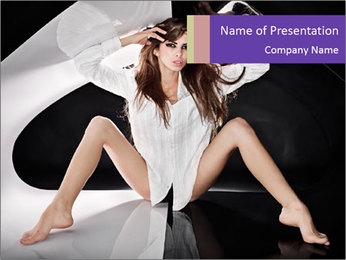 Black and White Concept in Fashion PowerPoint Template - Slide 1
