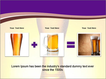 Huge Glass of Light Beer PowerPoint Template - Slide 22