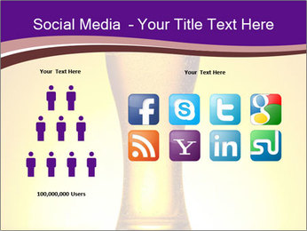 Huge Glass of Light Beer PowerPoint Template - Slide 5