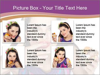 Woman Eating Sweet Cake PowerPoint Template - Slide 14