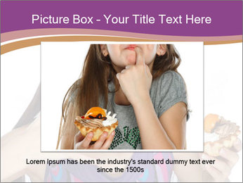 Woman Eating Sweet Cake PowerPoint Template - Slide 15