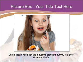 Woman Eating Sweet Cake PowerPoint Template - Slide 16
