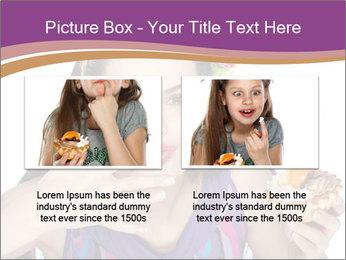 Woman Eating Sweet Cake PowerPoint Template - Slide 18