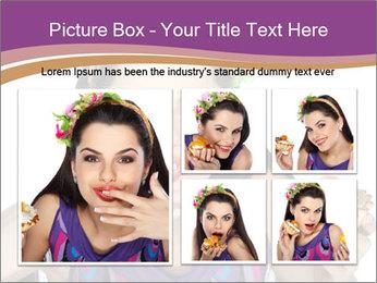 Woman Eating Sweet Cake PowerPoint Template - Slide 19
