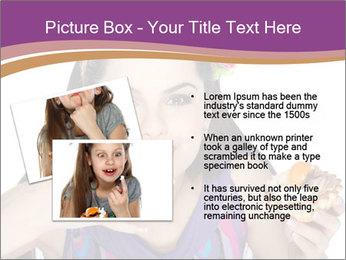 Woman Eating Sweet Cake PowerPoint Template - Slide 20