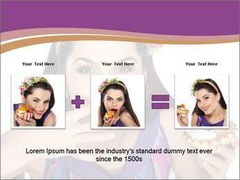 Woman Eating Sweet Cake PowerPoint Template - Slide 22