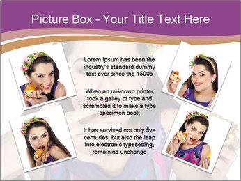 Woman Eating Sweet Cake PowerPoint Template - Slide 24