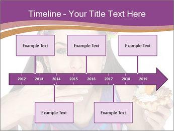 Woman Eating Sweet Cake PowerPoint Template - Slide 28
