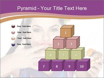 Woman Eating Sweet Cake PowerPoint Template - Slide 31