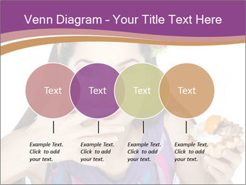 Woman Eating Sweet Cake PowerPoint Template - Slide 32