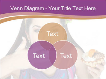 Woman Eating Sweet Cake PowerPoint Template - Slide 33