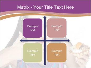 Woman Eating Sweet Cake PowerPoint Template - Slide 37