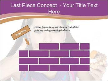 Woman Eating Sweet Cake PowerPoint Template - Slide 46