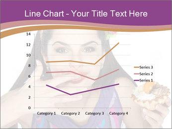 Woman Eating Sweet Cake PowerPoint Template - Slide 54