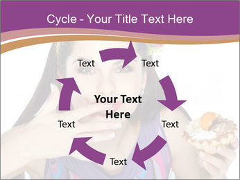 Woman Eating Sweet Cake PowerPoint Template - Slide 62