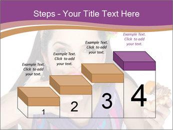 Woman Eating Sweet Cake PowerPoint Template - Slide 64