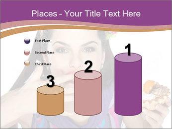 Woman Eating Sweet Cake PowerPoint Template - Slide 65