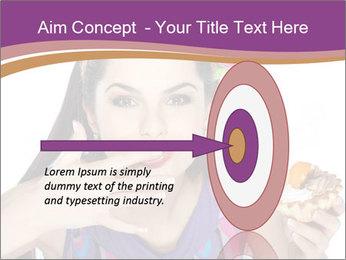 Woman Eating Sweet Cake PowerPoint Template - Slide 83