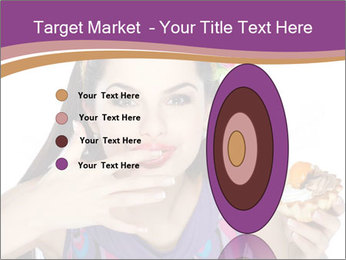 Woman Eating Sweet Cake PowerPoint Template - Slide 84