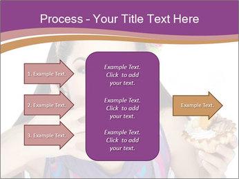 Woman Eating Sweet Cake PowerPoint Template - Slide 85