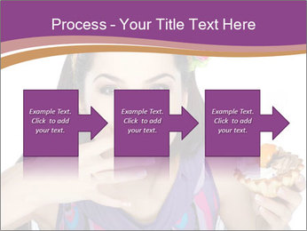 Woman Eating Sweet Cake PowerPoint Template - Slide 88