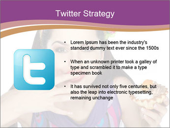 Woman Eating Sweet Cake PowerPoint Template - Slide 9