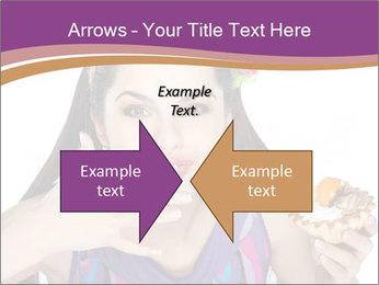 Woman Eating Sweet Cake PowerPoint Template - Slide 90