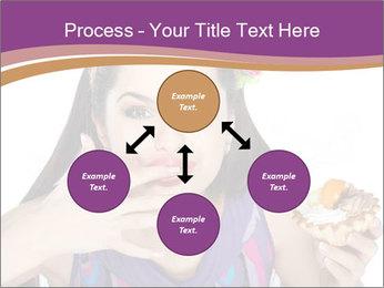 Woman Eating Sweet Cake PowerPoint Template - Slide 91