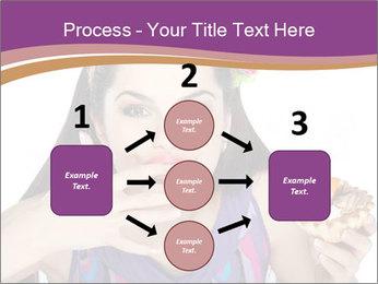 Woman Eating Sweet Cake PowerPoint Template - Slide 92
