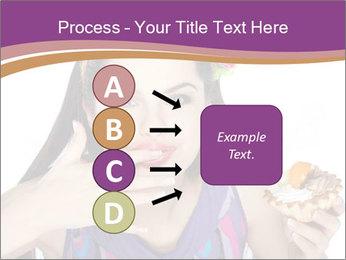 Woman Eating Sweet Cake PowerPoint Template - Slide 94