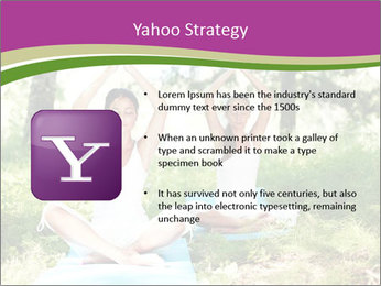 Woman Doing Forest Yoga PowerPoint Template - Slide 11