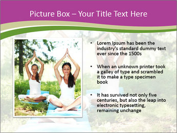 Woman Doing Forest Yoga PowerPoint Template - Slide 13