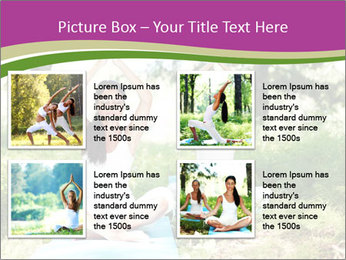 Woman Doing Forest Yoga PowerPoint Template - Slide 14